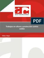 Capacitación Trabajos en Altura y Protección Contra Caídas