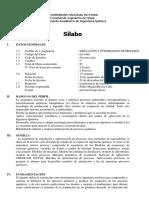 Syllabus Simulacion y Optimización de Procesos