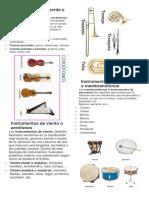 Instrumentos de Cuerda o Cordófonos