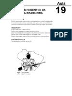 Aspectos Recentes Da Economia Brasileira Aula 19