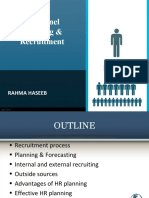 Personnel Planning & Recruitment