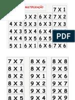 Bingo Da Multiplicação