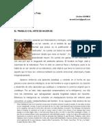 EL TRABAJO O EL ARTE DE HACER-SE/  Mtro. Marcelino Núñez Tejo