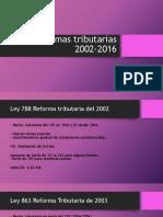 Reformas Tributarias 2002-2016