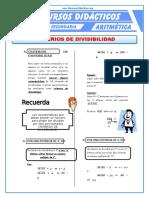 Ejercicios de Criterios de Divisibilidad Para Cuarto de Secundaria