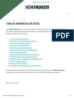 Tablas Dinámicas en Excel • Excel Total