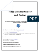 Trades Math Review With Algebra 2013