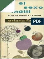 El Sexo Inútil, Oriana Fallaci