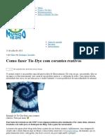 Como Fazer Tie-Dye Com Corantes Reativos _ Mundo Tie Dye