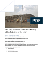 The Days of Deeds _ Virtues & History of Best of Days of the Year