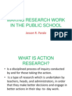 Making Research Work in the Public School