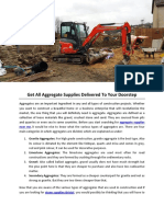 Get All Aggregate Supplies Delivered to Your Doorstep