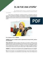 Mayo Del 68 Fue Una Utopía - Diana Uribe, Revista Semana