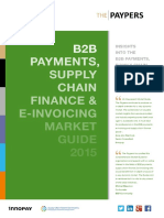 B2B Payments, Supply Chain Finance & E-Invoicing Market Guide 2015