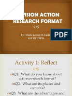 Division Action Research Format