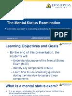 Mental Status Exam (Adult) - JMC
