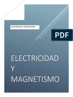 Principios de Electricidad y Magnetismo y Electrostatica