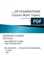 Deep Foundation Course