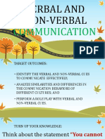 Verbal and Nonverbal