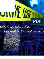 CSS Criminology Notes