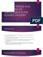 "Current Trends"" Employability in the Business Industry"