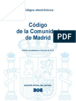 BOE-208 Codigo de La Comunidad de Madrid