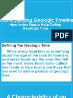 Fossils Defining Geologic Timeline New