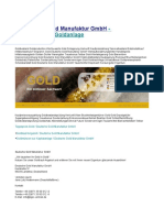 Deutsche Gold Manufaktur GmbH Goldbarren Goldanlage