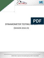 Dynamometer Tuning Report 2018-19