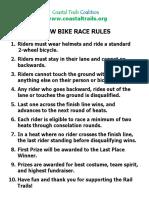 Slow Bike Race Rules 2