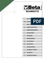 BET 019340030 Manuale Istruzioni