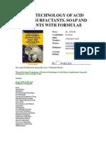 Book on Surfactants Acid Slurry Formulations Technology