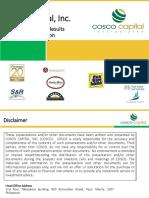 Cosco - 1Q 2019 Investor Presentation May 2019 FINAL