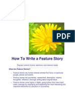 How to Write a Feature Story