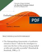 Qualitative Research Report