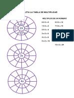 Completa La Tabla de Multiplicar