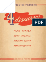 4 Discursos - Pablo Neruda Elias Lafertte Humberto Abarca Bernardo Leighton