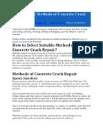 What Are the Methods of Concrete Crack Repair