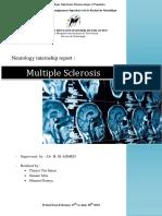 Multiple Sclerosis- Internship report