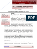 Infection Prevention and Control General Principles and Role of Microbiology Laboratory