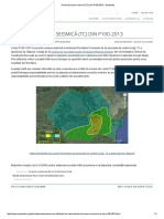 Harta de Zonare Seismică (Tc) Din P100-2013 - Encipedia