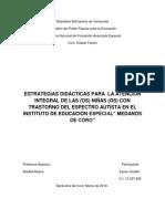 estrategias pedagogicas  autismo