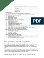 Landscape Maintenance Standards