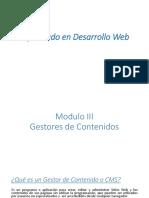 Desarrollo Web - Gestores de Contenido