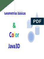 Java 3D Modulo 11 GeometriasBasicas Color