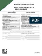 DRYER Installation Instruction w11183136 Reva