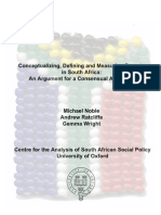 Consensual Definitions of Poverty in South Africa
