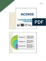 clasificacion, designacion y especificaciones de los aceros