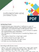 SUPPLEMENTARY GENE INTERACTION