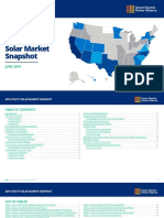 2019 Utility Solar Energy Market Snapshot in the US (SEIA) - Energy Transition in rooftop solar